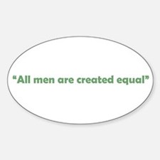 All Men Are Equal Oval Decal