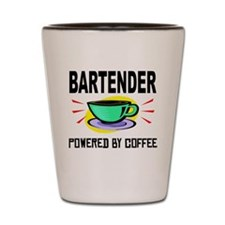 Bartender Powered By Coffee Shot Glass