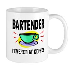 Bartender Powered By Coffee Mugs