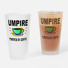 Umpire Powered By Coffee Drinking Glass