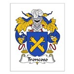 Troncoso Family Crest Small Poster