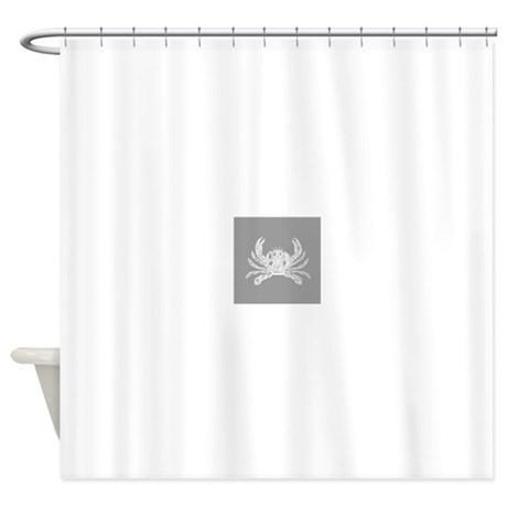 Grey Crab Shower Curtain