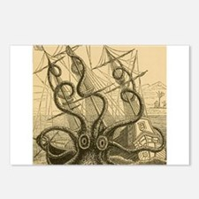 Kraken attack Postcards (Package of 8)