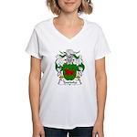 Tourinho Family Crest Women's V-Neck T-Shirt