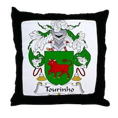 Tourinho Family Crest Throw Pillow