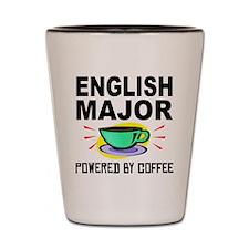 English Major Powered By Coffee Shot Glass