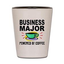 Business Major Powered By Coffee Shot Glass