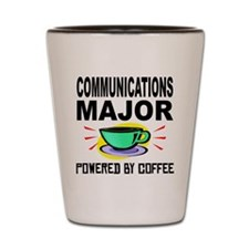 Communications Major Powered By Coffee Shot Glass