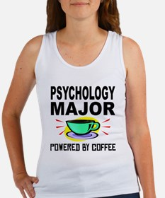 Psychology Major Powered By Coffee Tank Top
