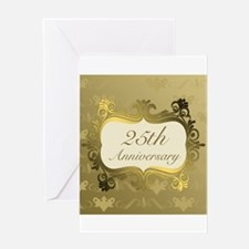 Fancy 25th Wedding Anniversary Greeting Cards