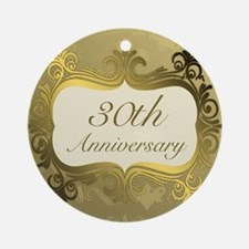 Fancy 30th Wedding Anniversary Ornament (Round)