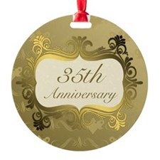 Fancy 35th Wedding Anniversary Ornament