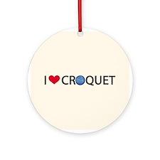 Love Croquet Ornament (Round)