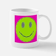 Pink Lime Happy Face Mug