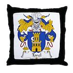 Torel Family Crest  Throw Pillow