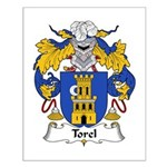 Torel Family Crest  Small Poster