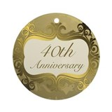 40th anniversary Round Ornaments