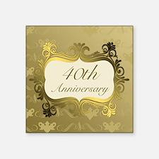 Fancy 40th Wedding Anniversary Sticker