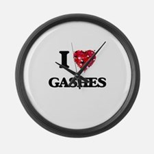 I love Gashes Large Wall Clock