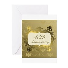 Fancy 45th Wedding Anniversary Greeting Cards