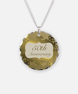 Fancy 50th Wedding Anniversa Necklace