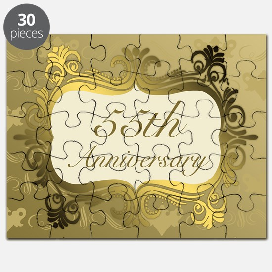Fancy 55th Wedding Anniversary Puzzle