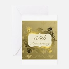 Fancy 55th Wedding Anniversary Greeting Cards