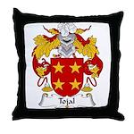 Tojal Family Crest Throw Pillow