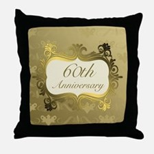 Fancy 60th Wedding Anniversary Throw Pillow