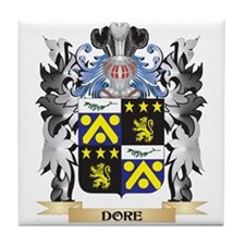Dore Coat of Arms - Family Crest Tile Coaster