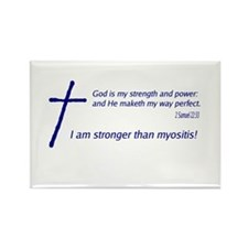 Christian Myositis Awareness Rectangle Magnet