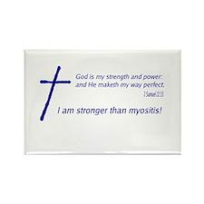 Christian Myositis Awareness Rectangle Magnet