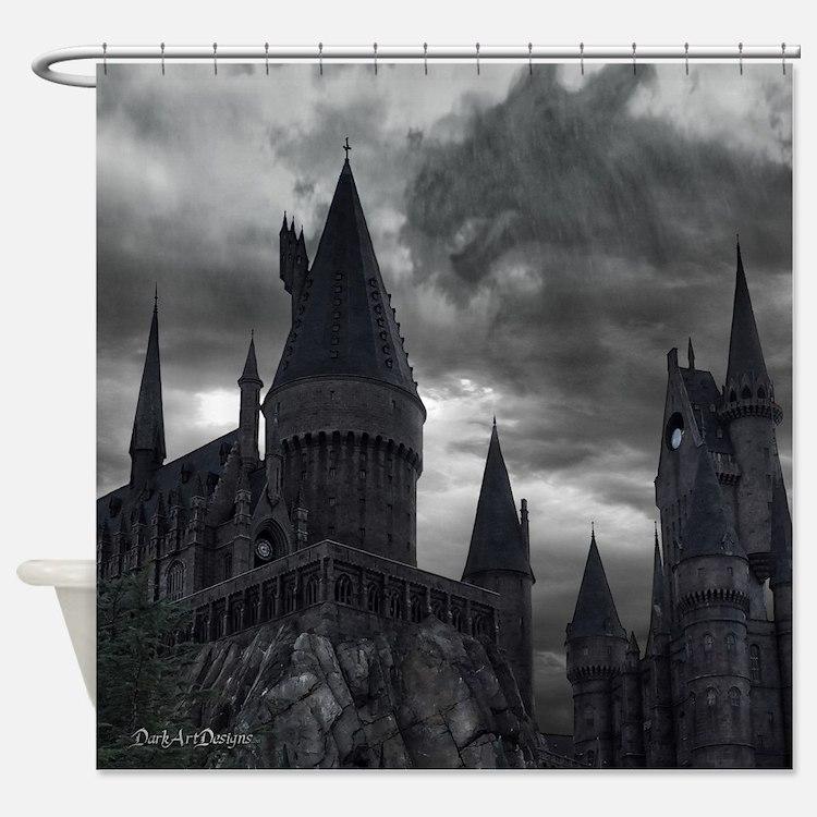 Cute Hogwart Shower Curtain