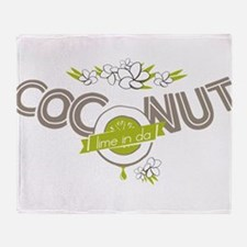 Lime in the Coconut II Throw Blanket