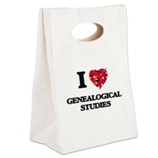 I love Genealogical Studies Canvas Lunch Tote