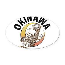 Okinawa Koi Oval Car Magnet