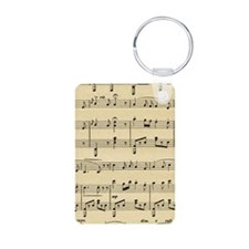 Old Sheet Music Keychains