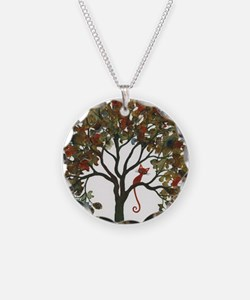 Lawton Stray Cat in Tree Necklace