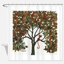 Lawton Stray Cat in Tree Shower Curtain