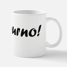 bonjourno black Mugs