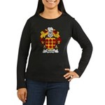 Taveira Family Crest Women's Long Sleeve Dark T-Sh