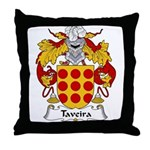 Taveira Family Crest Throw Pillow