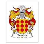 Taveira Family Crest Small Poster