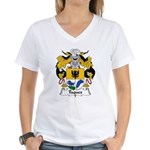 Taques Family Crest Women's V-Neck T-Shirt