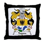 Taques Family Crest Throw Pillow