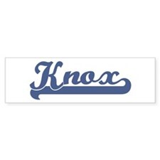 Knox (sport-blue) Bumper Bumper Sticker