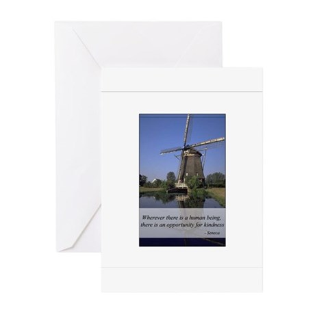 Windmill - Human Kindness Greeting Cards (Pk of 20