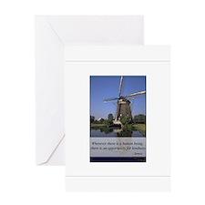 Windmill - Human Kindness Greeting Card