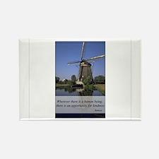 Windmill - Human Kindness Rectangle Magnet