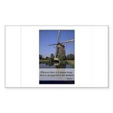 Windmill - Human Kindness Rectangle Decal